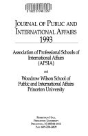 Journal of Public and International Affairs