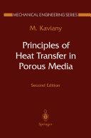 Principles of Heat Transfer in Porous Media Pdf/ePub eBook