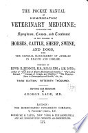 The Pocket Manual of Homeopathic Veterinary Medicine   with the General Management of Animals in Health   Disease Book