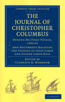 Journal of Christopher Columbus (During His First Voyage, 1492-93)