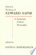 Selected Writings of Edward Sapir Book