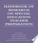 Handbook of Research on Special Education Teacher Preparation Book