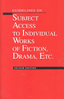 Guidelines on Subject Access to Individual Works of Fiction  Drama  Etc