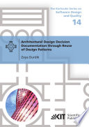 Architectural Design Decision Documentation through Reuse of Design Patterns