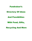 Fundraiser's Directory of Ideas and Possibilities with Food Gifts Recycling and More