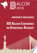XIII Balkan Conference on Operational Research Proceedings