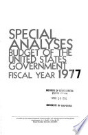 Special Analyses Budget Of The United States Government
