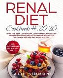 Renal Diet Cookbook 2020