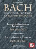 Bach: Three Sonatas & Three Partitas for Solo Violin, Bwv 1001-1006