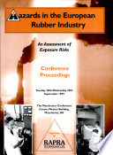 Hazards In The European Rubber Industry Book PDF