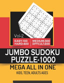 JUMBO SUDOKU PUZZLE 1000 MEGA ALL IN ONE Vol 2