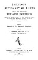 Pdf Lockwood's Dictionary of Terms Used in the Practice of Mechanical Engineering ...