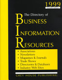 The Directory Of Business Information Resources 1999