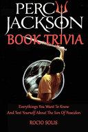Percy Jackson Book Trivia image