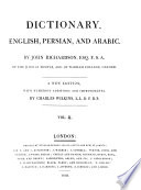 Dictionary  English  Persian  and Arabic