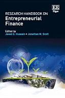 Research Handbook on Entrepreneurial Finance
