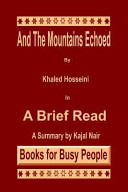 And the Mountains Echoed by Khaled Hosseini Book