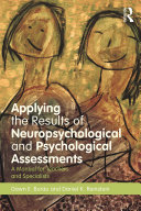 Pdf Applying the Results of Neuropsychological and Psychological Assessments Telecharger