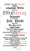 Sechzig erbauliche Reden über die Offenbarung Johannis ... oder vielmehr Jesu Christi
