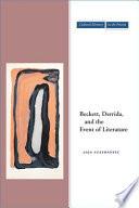 Beckett  Derrida  and the Event of Literature