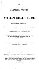 The Dramatic Works of William Shakspeare ebook