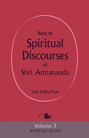 Notes on Spiritual Discourses of Shri Atmananda