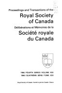 Proceedings of the Royal Society of Canada Book