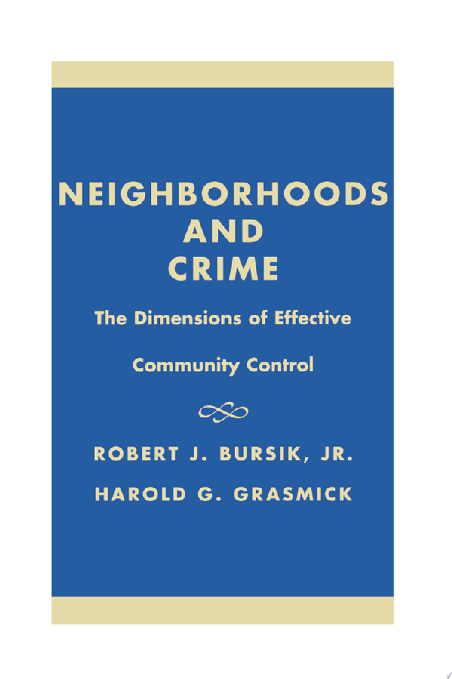 Neighborhoods   Crime