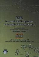 ISIS  International Symposium on Interdisciplinary Science Book