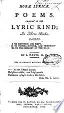 Hor   Lyric   Book