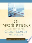 Job Descriptions And Duties For Church Members And Workers Book PDF