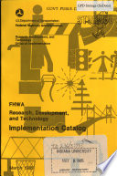 FHWA Research, Development and Technology Implementation Catalog