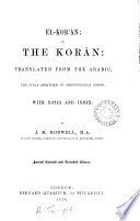 The Koran Tr The Suras Arranged In Chronological Order With Notes And Index By J M Rodwell 2nd Revised And Amended Ed Book PDF