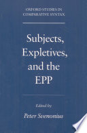 Subjects, Expletives, and the EPP - Google Books