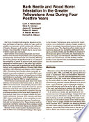 Bark Beetle and Wood Borer Infestation in the Greater Yellowstone Area During Four Postfire Years