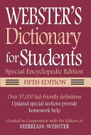 Webster's Dictionary for Students, Special Encyclopedic, Fifth Edition