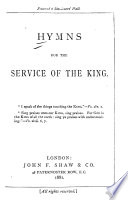 Hymns For The Service Of The King
