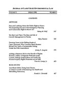 Journal Of Land Use Environmental Law