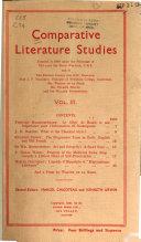 Comparative Literature Studies