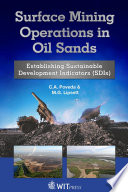 Surface Mining Operations In Oil Sands Book PDF