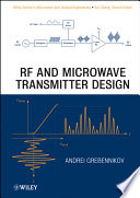 RF and Microwave Transmitter Design Book