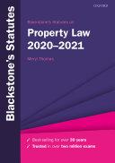 Blackstone s Statutes on Property Law 2020 2021