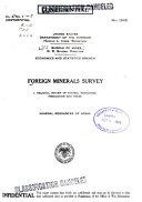 Foreign Minerals Survey