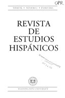 Revista de estudios hisp  nicos Book