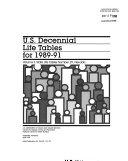 U S Decennial Life Tables For 1989 91 No 29