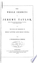 The Whole Sermons Of Jeremy Taylor