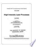 High Intensity Laser Processes