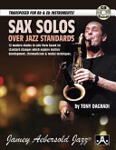 Sax Solos Over Jazz Standards Book PDF