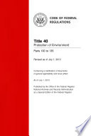 Title 40 Protection of Environment Parts 100 to 135 (Revised as of July 1, 2013)