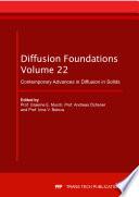 Contemporary Advances in Diffusion in Solids